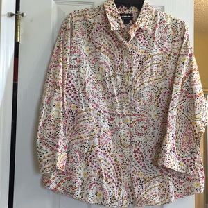 Westbound Wrinkle Free Pink Paisley Button Down